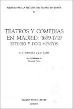 Teatros y Comedias en Madrid: 1699-1719