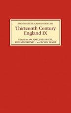 Thirteenth Century England IX