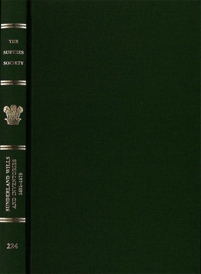 Sunderland Wills and Inventories, 1651-1675