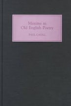 Maxims in Old English Poetry