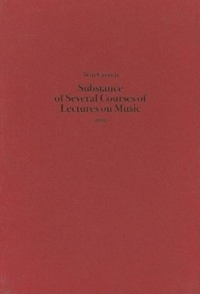 Substance of Several Courses of Lectures on Music (1831)