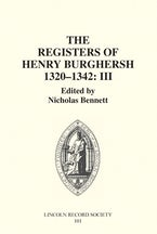 The Registers of Bishop Henry Burghersh 1320-1342