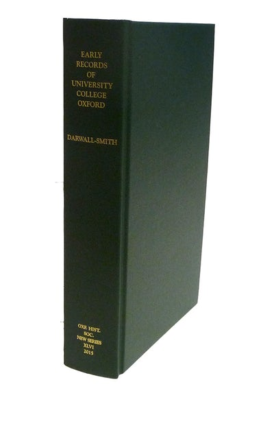 Early Records of University College, Oxford