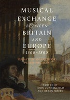 Musical Exchange between Britain and Europe, 1500-1800