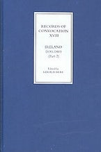Records of Convocation XVIII: Ireland, 1690-1869, Part 2