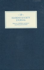 The Haskins Society Journal 19