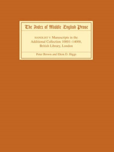 The Index of Middle English Prose Handlist V