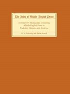 The Index of Middle English Prose Handlist VI