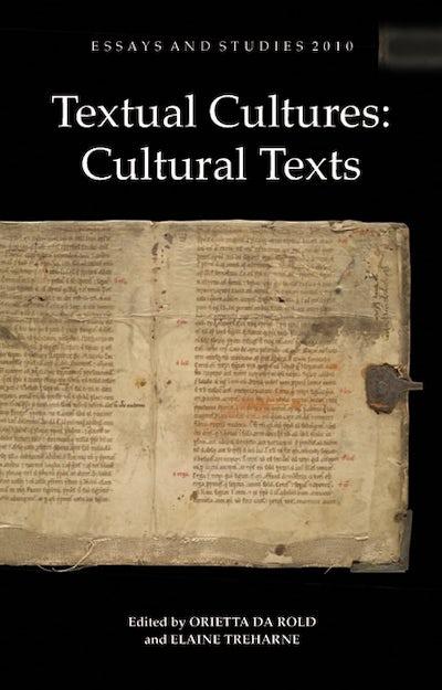 Textual Cultures: Cultural Texts
