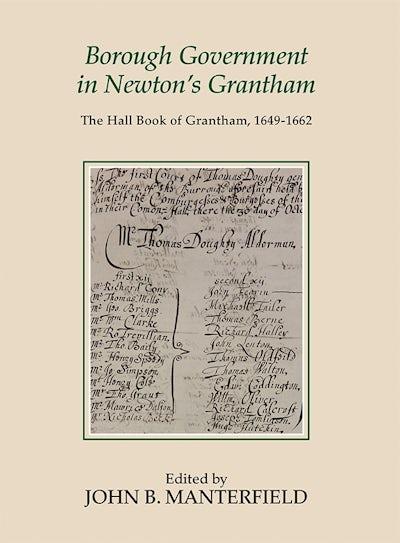 Borough Government in Newton's Grantham