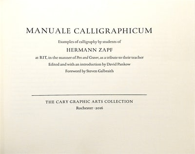 Manuale Calligraphicum